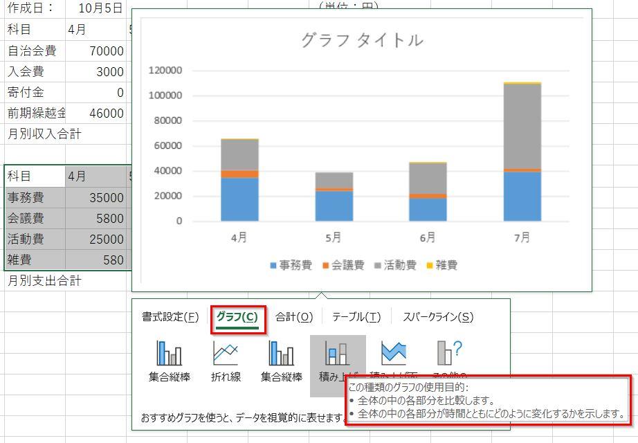 20190126クイック分析ツールのグラフ積み上げ