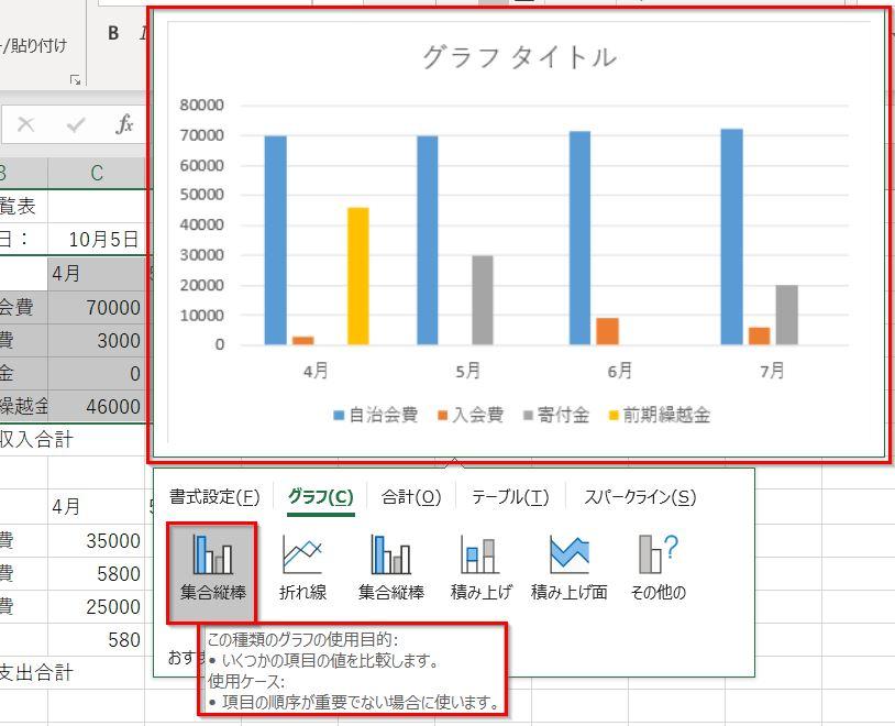20190126クイック分析ツールのグラフ集合縦棒