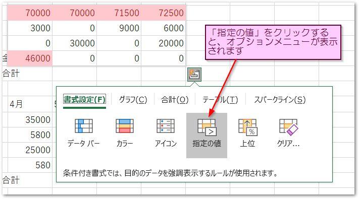 20190126クイック分析ツールの指定の値