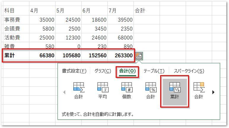 20190126クイック分析ツールの合計タブ累計