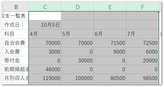 複数の列幅変更2 パソコン教室 エクセル Excel オンライン 佐賀